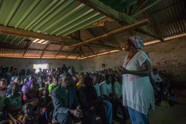 Sensibilisation communautaire à Noborotono