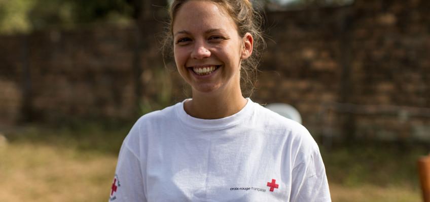 Nadège, responsable des opérations communautaires à Macenta